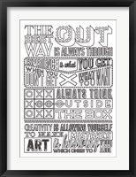 Framed Creativity Set White