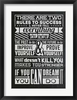 Framed Success Set Black