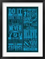 Framed Motivation Set Blue