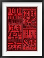 Framed Motivation Set Red