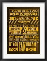 Framed Success Set Yellow