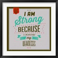 Framed I'm Strong 1