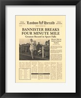 Four Minute Mile Framed Print