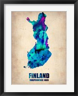 Framed Finland Watercolor