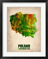 Framed Poland Watercolor