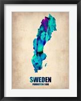 Framed Sweden Watercolor