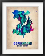 Framed Copenhagen Watercolor