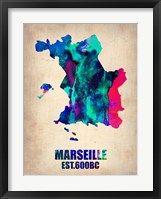 Framed Marseille Watercolor