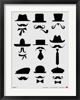 Framed Hats and Mustaches 1