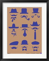 Framed Hats and Mustaches 2