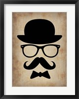 Framed Hat Glasses and Mustache 1