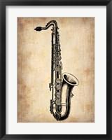 Framed Vintage Saxophone