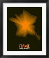 Framed France Radiant Map 3
