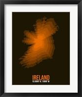 Framed Ireland Radiant Map 3