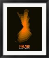 Framed Finland Radiant Map 2