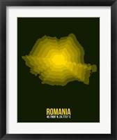 Framed Romania Radiant Map 2