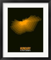 Framed Hungary Radiant Map 3