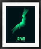 Framed Japan Radiant Map 2
