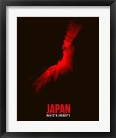 Framed Japan Radiant Map 3