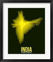 Framed India Radiant Map 3