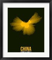 Framed China Radiant Map 2