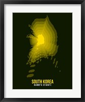 Framed South Korea Radiant Map 3
