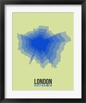 Framed London Radiant Map 4