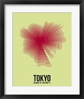 Framed Tokyo Radiant Map 1
