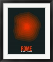Framed Rome Radiant Map 2
