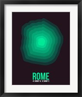 Framed Rome Radiant Map 3