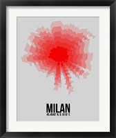 Framed Milan Radiant Map 1