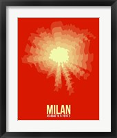 Framed Milan Radiant Map 2