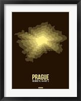 Framed Prague Radiant Map 1