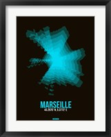 Framed Marseille Radiant Map 2