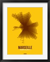 Framed Marseille Radiant Map 3