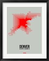Framed Denver Radiant Map 1
