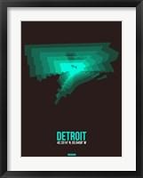 Framed Detroit Radiant Map 4