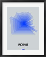 Framed San Francisco Radiant Map 3