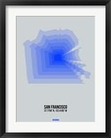 Framed San Francisco Radiant Map 3