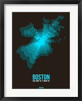 Framed Boston Radiant Map 2