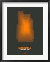 Framed Minneapolis Radiant Map 3