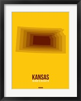 Framed Kansas Radiant Map 2