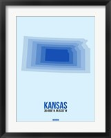 Framed Kansas Radiant Map 3