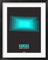 Framed Kansas Radiant Map 5