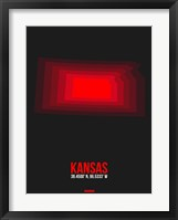 Framed Kansas Radiant Map 6