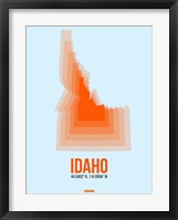 Framed Idaho Radiant Map 1