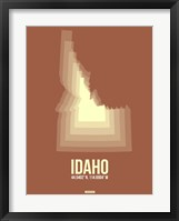 Framed Idaho Radiant Map 2