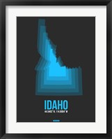 Framed Idaho Radiant Map 4