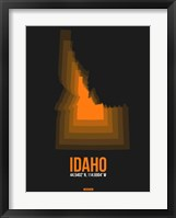 Framed Idaho Radiant Map 6