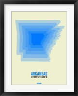 Framed Arkansas Radiant Map 2